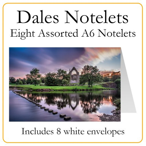 Yorkshire Dales Notelet Packs - Bolton Abbey Example